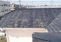 屋根表面が劣化しています