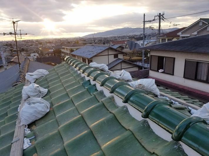 屋根修理後の瓦屋根