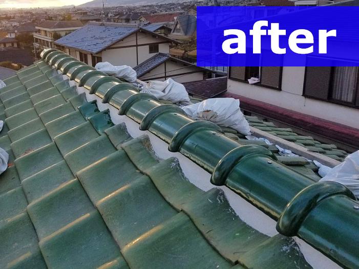 部分的な工事で機能復旧した屋根