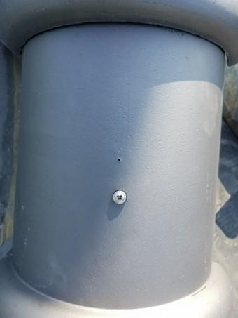 防災棟の施工 丸瓦の設置