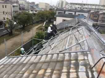 屋根足場組始め