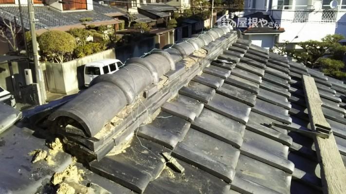棟の補修工事 現地調査