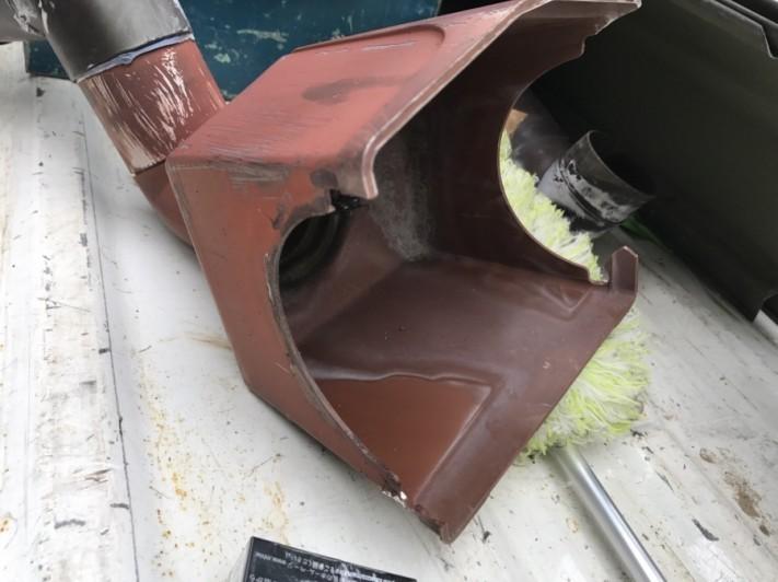 高槻市 撤去後の傷んだ集水器