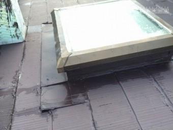 雨漏り調査 下屋根の調査 トップライト
