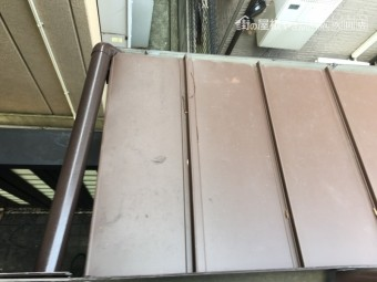 ガルバリウム鋼板カバー工事