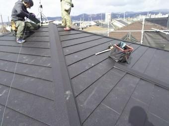 ガルテクトへ葺き替え工事