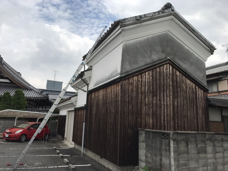 蔵の屋根調査