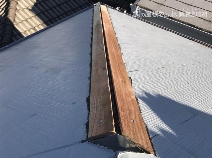 新しい下地の木「貫板」の設置