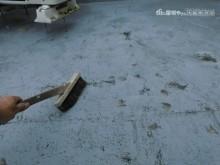 屋上防水工事ケレン作業