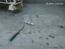 屋上防水工事プライマー作業