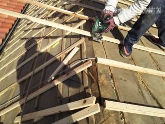 屋根葺き替え工事 垂木工事