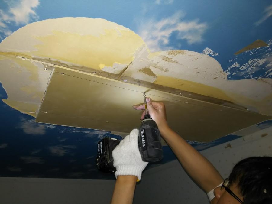 雨漏り天井補修工事