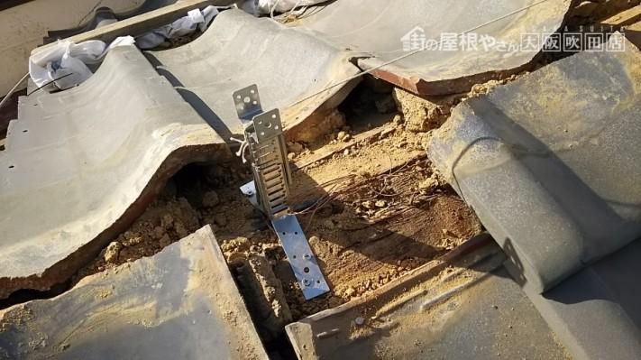 防災棟金具の施工