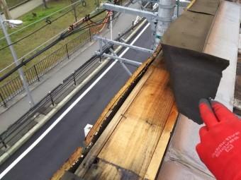 パラペット笠木板金取り換え工事