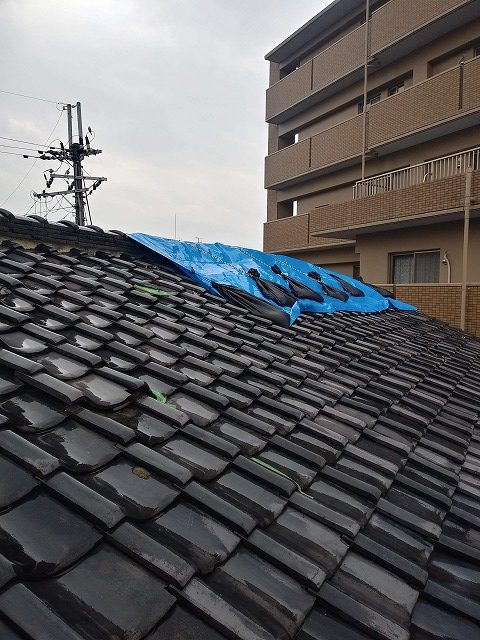 雨漏れ大屋根