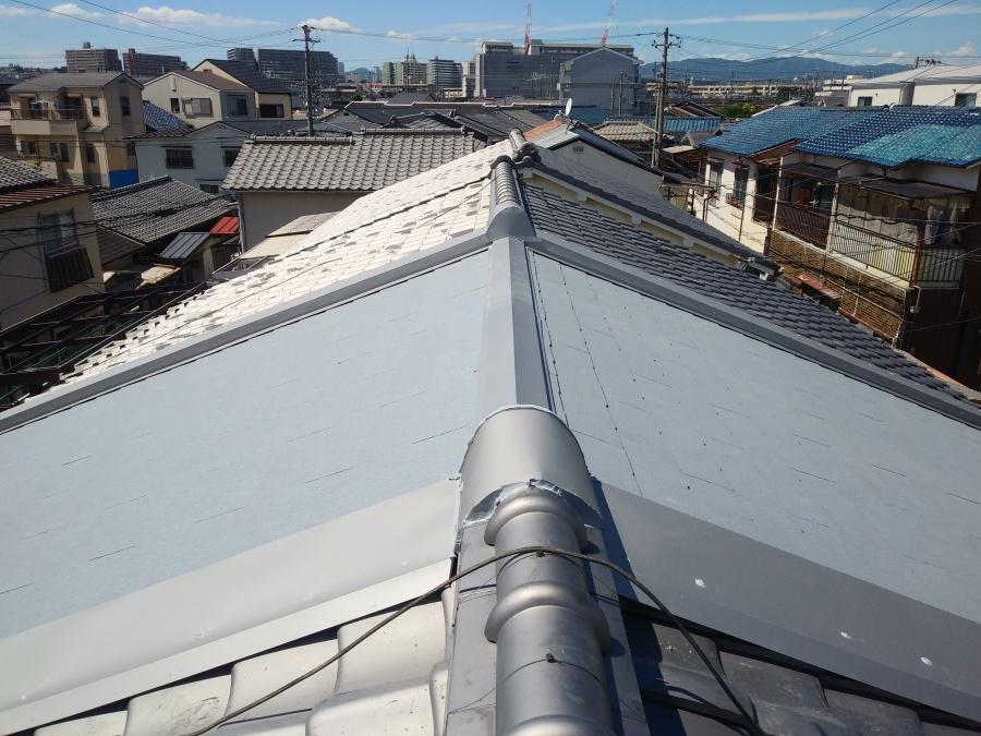 コロニアル屋根完成