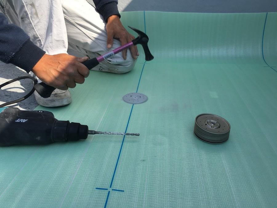 防水工事に使用するUPディスク