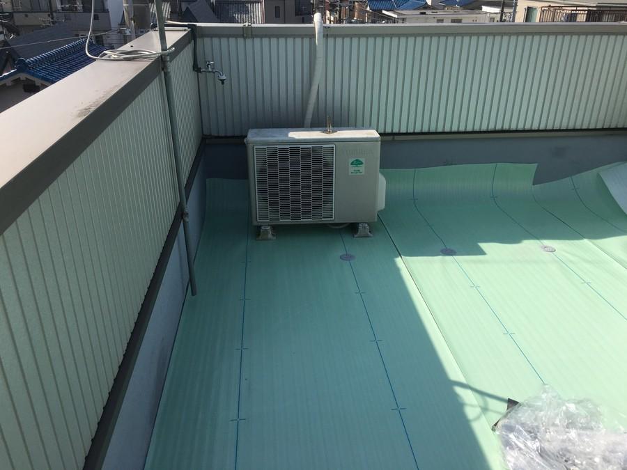 大阪市旭区で屋上防水工事 ディスク取付け完了
