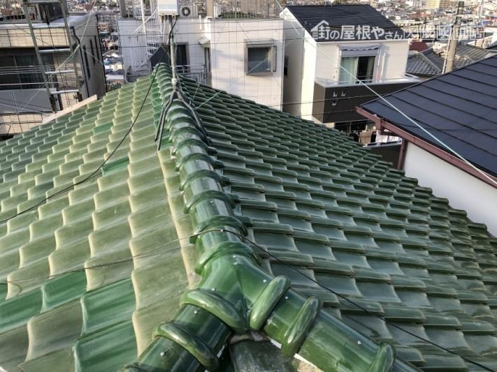 棟積み直し工事完了後の屋根