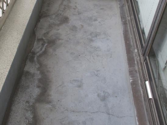 ケレン後のベランダ床