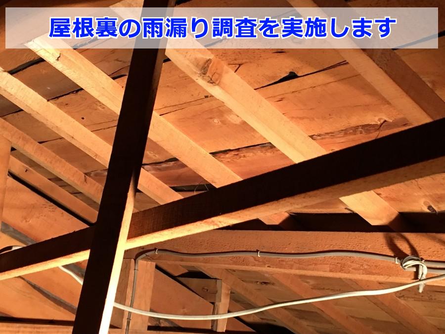 雨漏り調査(屋根裏)