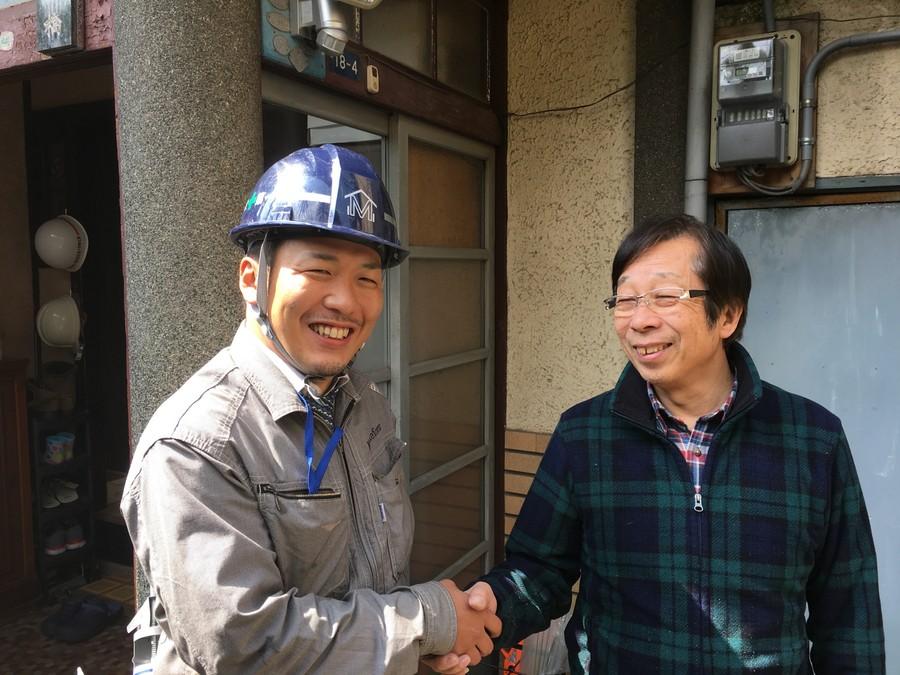 大阪市東住吉区 瓦の部分補修が終了しました。お客様の声です。