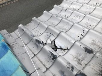 台風で被災した瓦屋根