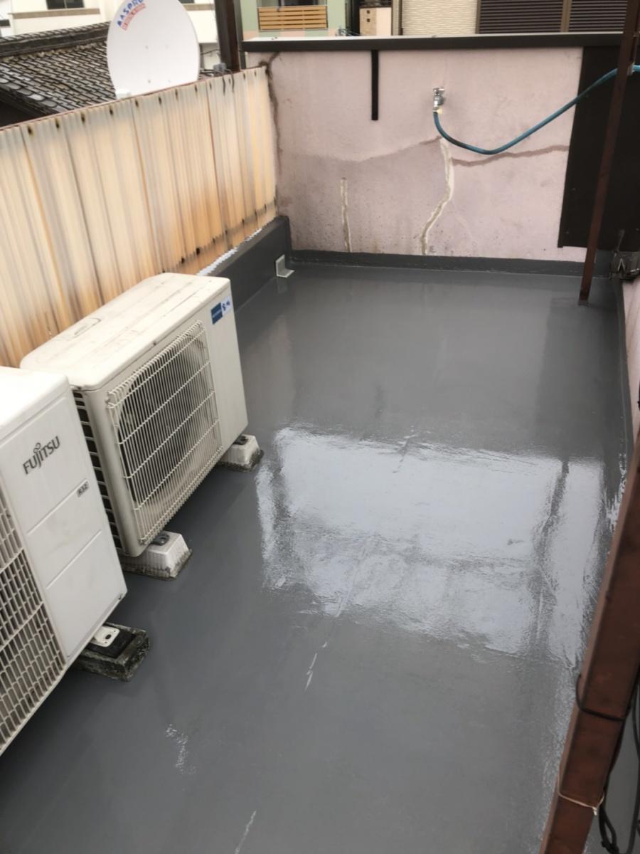 防水塗装しなおした屋上ベランダ