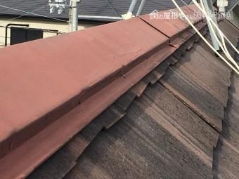 屋根の大棟の釘浮き