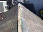 劣化したスレート屋根の大棟板金
