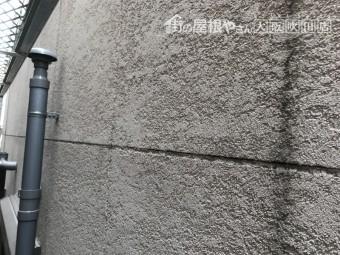 劣化による外壁の黒ずみ色あせなどの様子