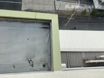 ベランダ床及び天井の穴あき