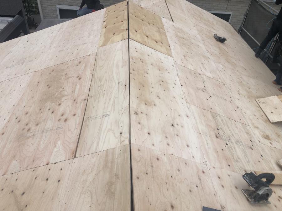 構造用合板施工完成