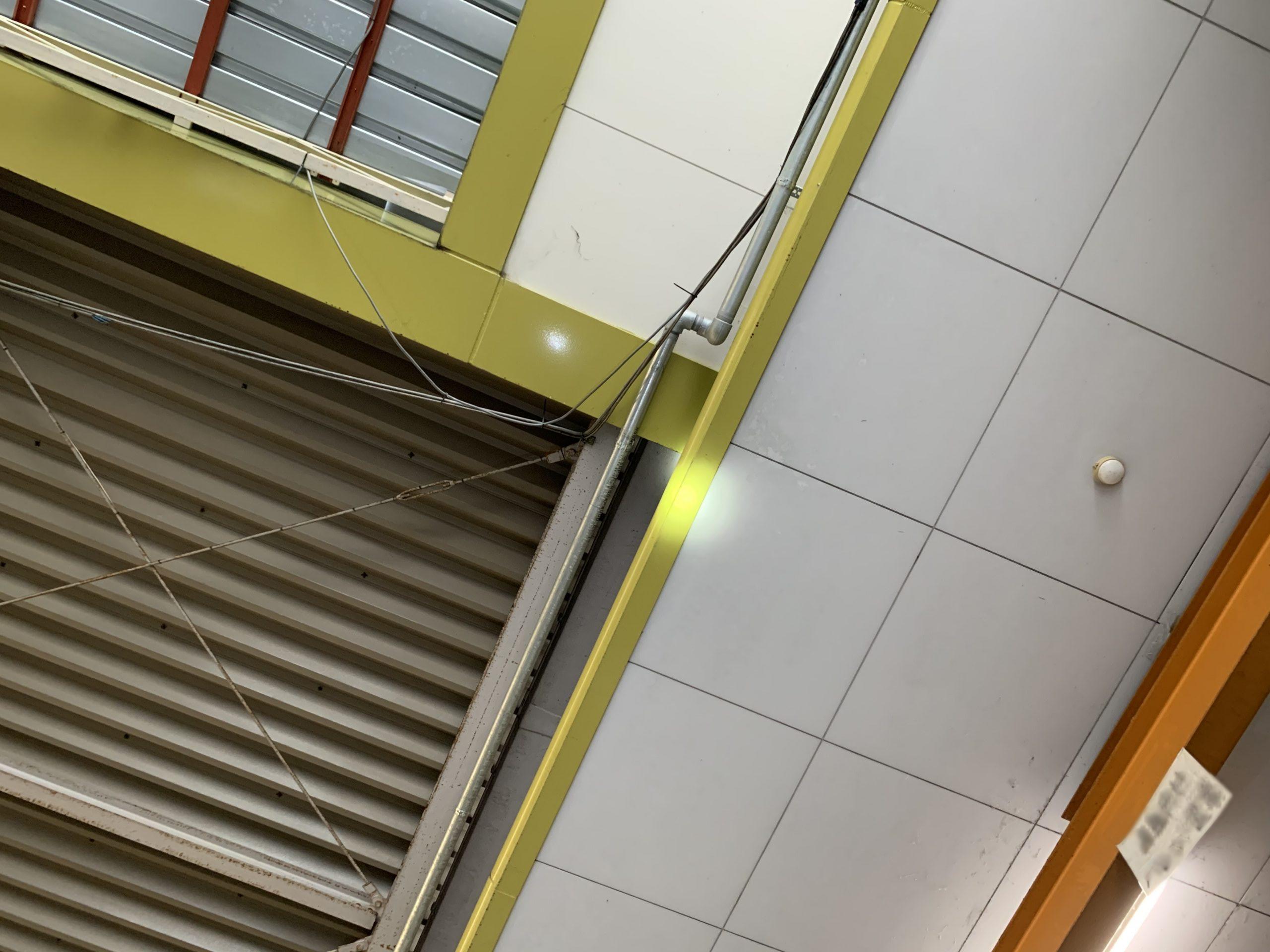 工場天井の雨漏り箇所