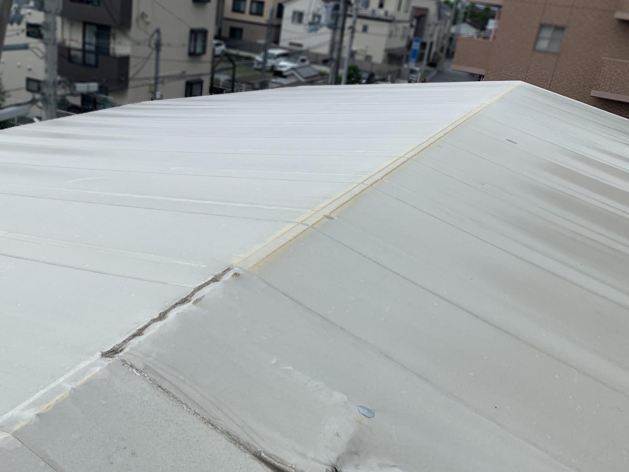 テント屋根の表面