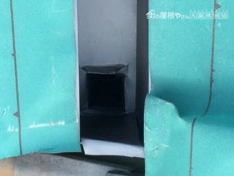 ガルバリウム鋼板製谷板金 ドレン部