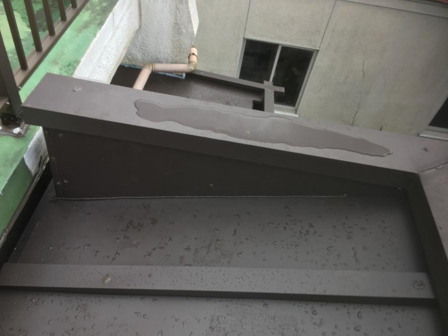 陸屋根板金工事完了後