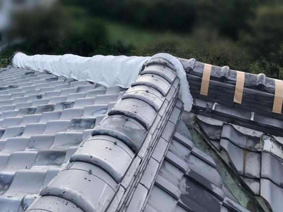 屋根修繕前の棟