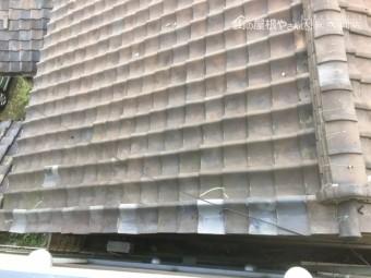 施工前の大屋根の様子