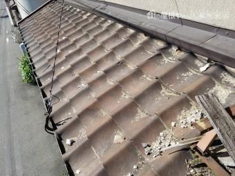 施工前の下屋根の様子