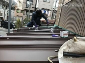 下屋根カバー工事立平の施