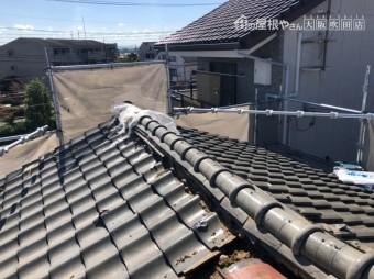 台風で被害にあった瓦屋根