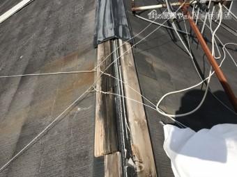 摂津市 台風被害 棟板金の飛散