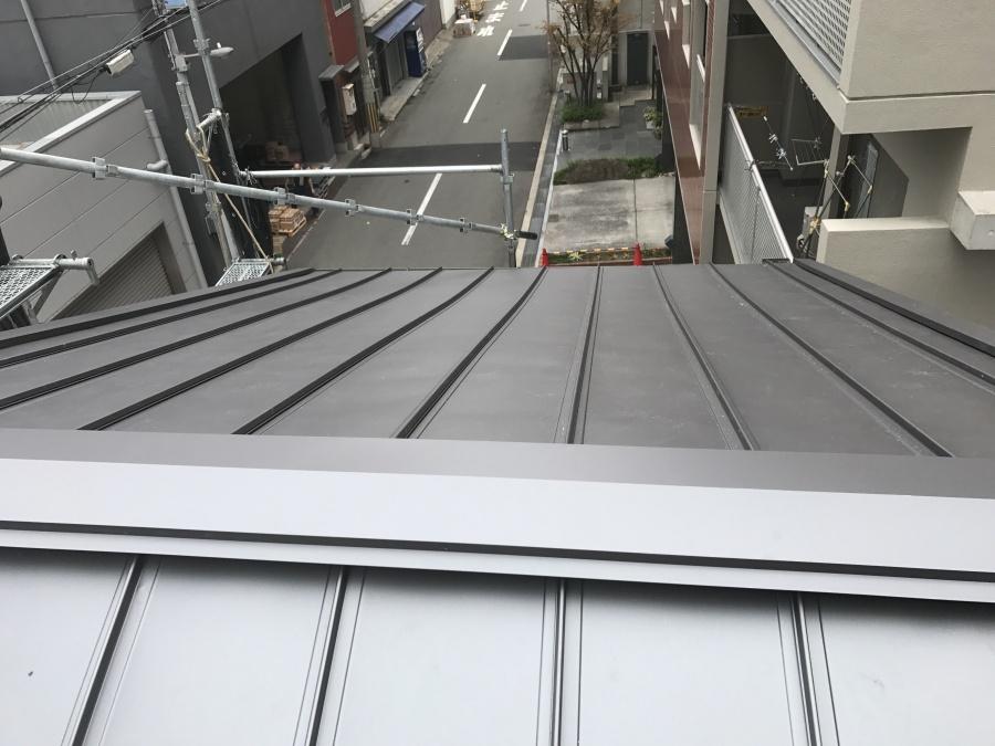 ガルバリウム鋼板施工完成
