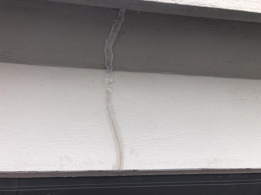 外壁のクラック修理後