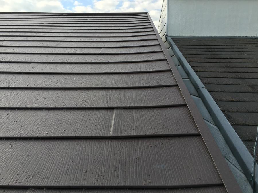 屋根理リフォーム後の金属屋根