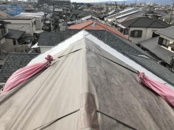 応急処置カバーされた屋根