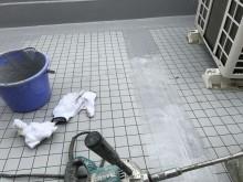 防水工事立ち上がりとつなぎ目部分塗装