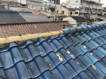 瓦屋根大棟の不具合