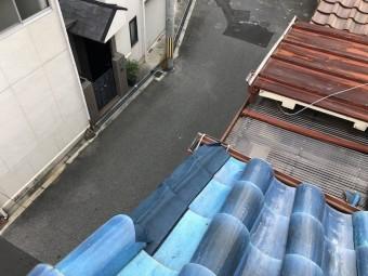 ケラバ付近瓦の不具合を防水シートでカバー